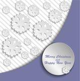 Carte de Noël lilas Image stock