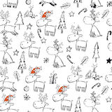 Carte de Noël mignonne Image libre de droits