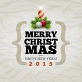 Carte de Noël moderne Images libres de droits
