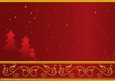 Carte de Noël ou d'an neuf Images libres de droits