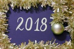 Carte de Noël : 2018 - photos courantes Photos stock