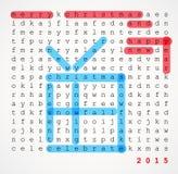 Carte de Noël - puzzle de recherche de mot Photo libre de droits