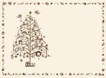 Carte de Noël, retrait de croquis pour votre conception illustration libre de droits