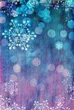 Carte de Noël rose et bleue Images stock