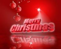 Carte de Noël rouge Images stock