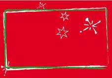 Carte de Noël rouge Photos libres de droits