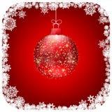 Carte de Noël rouge de bille de Noël. ENV 8 Images stock