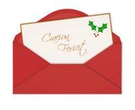 Carte de Noël sous enveloppe Photos stock