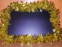 Carte de Noël - tableau noir bleu - photos courantes Images libres de droits
