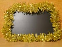 Carte de Noël - tableau noir décoré - photos courantes Image stock