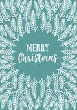 Carte de Noël, vecteur Image stock