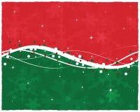 Carte de Noël verte rouge Photo libre de droits