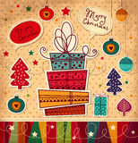 Carte de Noël Photo stock