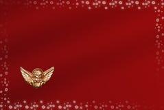 Carte de Noël avec l'espace pour des souhaits Image libre de droits