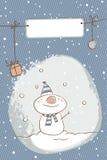 Carte de Noël de bonhomme de neige Images libres de droits