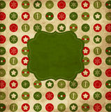 Carte de Noël de cru Photo stock