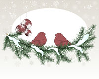 Carte de Noël (an neuf) Image libre de droits