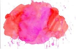 Carte de note de blanc de cadre d'aquarelle Images stock