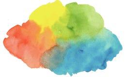 Carte de note de blanc de cadre d'aquarelle Image libre de droits