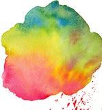 Carte de note de blanc de cadre d'aquarelle Photographie stock