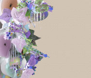 Carte de note en pastel florale Photos stock
