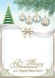 Carte de nouvelle année avec 2018 avec l'arbre de Noël illustration libre de droits