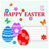 Carte de Pâques. Image stock