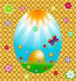 Carte de Pâques Photos libres de droits