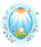 Carte de Pâques Photos stock
