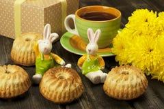 Carte de Pâques avec des décorations Image libre de droits