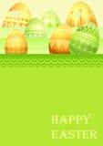 Carte de Pâques avec des oeufs Images libres de droits