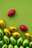 Carte de Pâques avec des oeufs de pâques Photographie stock
