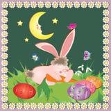 Carte de Pâques avec le lapin Photo stock