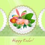 Carte de Pâques avec le lapin Photo libre de droits