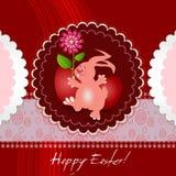 Carte de Pâques avec le lapin Image libre de droits