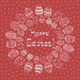Carte de Pâques avec le mandala Photographie stock libre de droits