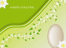 Carte de Pâques avec le motif de source Photographie stock