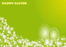 Carte de Pâques avec le motif floral Photo libre de droits