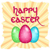 Carte de Pâques avec le texte Photos stock