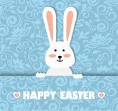 Carte de Pâques avec un lapin Photo stock