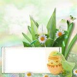 Carte de Pâques de source illustration de vecteur