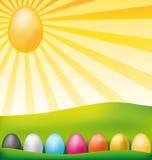 Carte de Pâques heureuse. Photo libre de droits