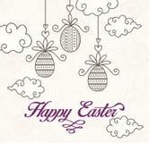 Carte de Pâques heureuse Photo libre de droits