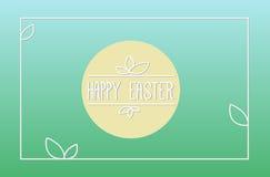 Carte de Pâques heureuse Images libres de droits