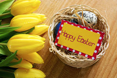 Carte de Pâques heureuse Photos libres de droits