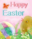 Carte de Pâques heureuse Images stock
