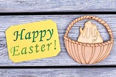 Carte de Pâques heureuse Photos stock