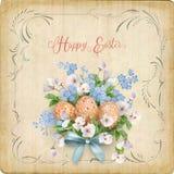Carte de Pâques heureuse illustration de vecteur