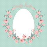 Carte de Pâques heureuse avec l'endroit pour votre texte. Photographie stock libre de droits