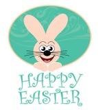 Carte de Pâques heureuse avec le lapin Photo libre de droits